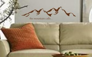Mountain Landscape Decal Sticker Wall Art Graphic Alps Climbing Mountains
