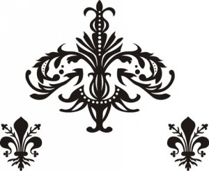 Damask Symbols Sticker Wall Decal Modern Decoration Classy Art