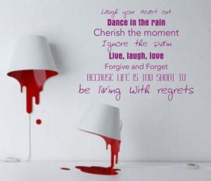 Laugh Your Heart Out Quote Wall Decal Sticker tattoo word life love live