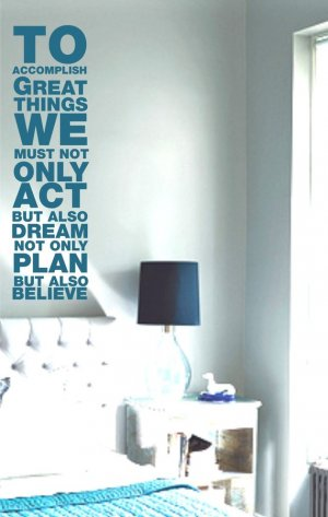 To Accomplish Great Things Decal Sticker Quote Wall Graphic Art Life Inspiration Office Home Work