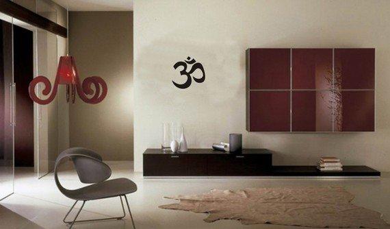 Smal OM Symbol Wall Decal Sticker Buddha Absolute Brahman Hindu Yoga