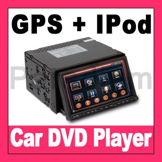 """7"""" Car DVD Player + GPS Navigation + Bluetooth TV iPod DivX"""