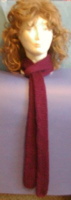 Hand Crafted Scarf Very Soft and Warm 100% Acrylic Maroon Length: 2 Foot Price:12.95