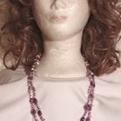 Numbered Hand Crafted Double Strand Amethyst  Necklace Price: 34.95