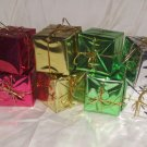 "8 Metalic Wrapped Christmas Presents Size: 1 3/4"" Square Price: 3.95"