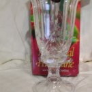 "Two Piece 12"" Crystal Hurricane 24% Fine Lead Crystal Price: 24.95"