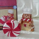 "GINGERMINT SALT & PEPPER SET Size: 3 3/4"" H x 3"" W x 4"" D Price: 4.95 Each"