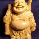 Hand Carved Laughing Standing Buddha