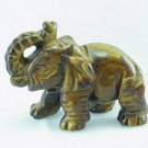 Hand Carved Tiger Eye Elephant