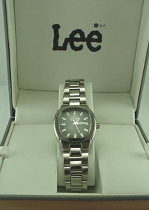 New Ladies LEE Dungarees Watch Charcoal