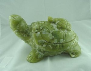 BIG Hand Carved New Jade Turtle & Baby