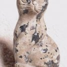 Hand Carved Spotted Jasper Cat