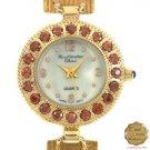 Ladies Marcel Drucker Garnet Chain Bracelet Watch