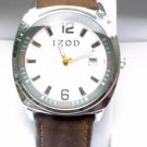 New IZOD Mens Leather Watch