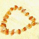 Baltic Amber Sterling Silver Nugget Bracelet