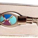 Key Ring Inlaid Turquoise Agate Malachite Onyx