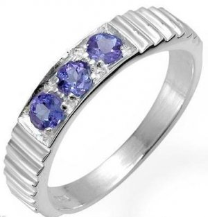 Genuine Tanzanite Sterling Silver Ring