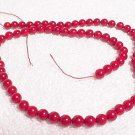 "16"" Strand Round Red Coral Beads"
