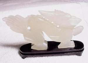 Hand Carved Genuine JADE Dragon