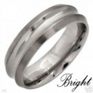 New BRIGHT Mens TITANIUM Wedding Band Size 10