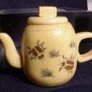 Handcarved Miniature Ox Bone Teapot Inlaid Scarabs
