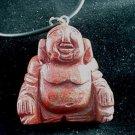New Large Red Jasper Buddha Pendant Necklace