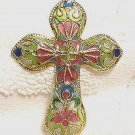 New Plique A'Jour Cloisonne Cross