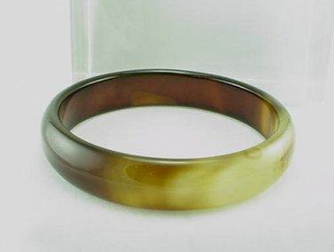 Brown Solid AGATE Bangle Bracelet