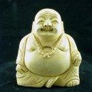 Hand Carved Laughing Buddha Kadam