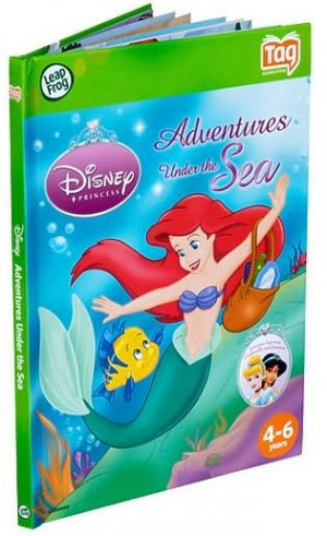 Disney Princess Ariel Adventures Under the Sea Leapfrog Tag Reader Activity Story Learning Book 4-6