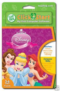 Disney Princess The Love of Letters LeapFrog Click Start My First Computer Game Ages 3-6 Free Ship