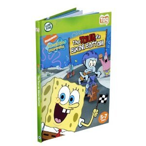 SpongeBob Squarepants The Tour De Bikini Bottom Leapfrog Tag Reader Activity Story Learning Book 5-7