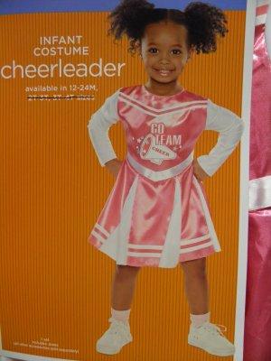 Pink Long Sleeve Cheerleader Dress Halloween Costume Toddler Infant Size 12-24 Months
