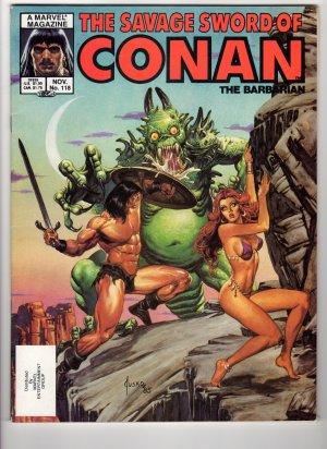 The Savage Sword Of Conan The Barbarian Volume 1, No 118, November 1985 Marvel Comic Magazine