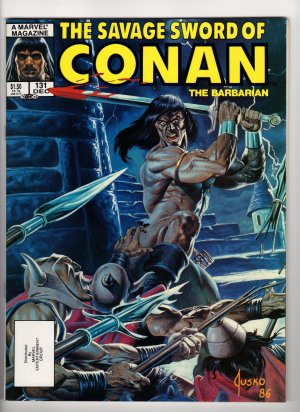 The Savage Sword Of Conan The Barbarian Volume 1, No. 131 December 1986 Marvel Comic Magazine