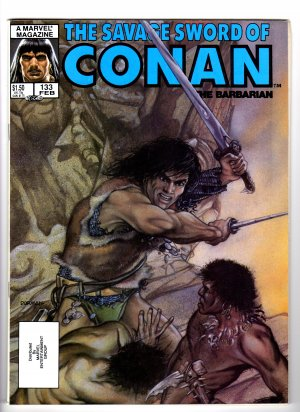 The Savage Sword Of Conan The Barbarian Volume 1, No. 133 February 1987 Marvel Comic Magazine