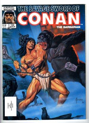 The Savage Sword Of Conan The Barbarian Volume 1, No. 134, March 1987 Marvel Comic Magazine