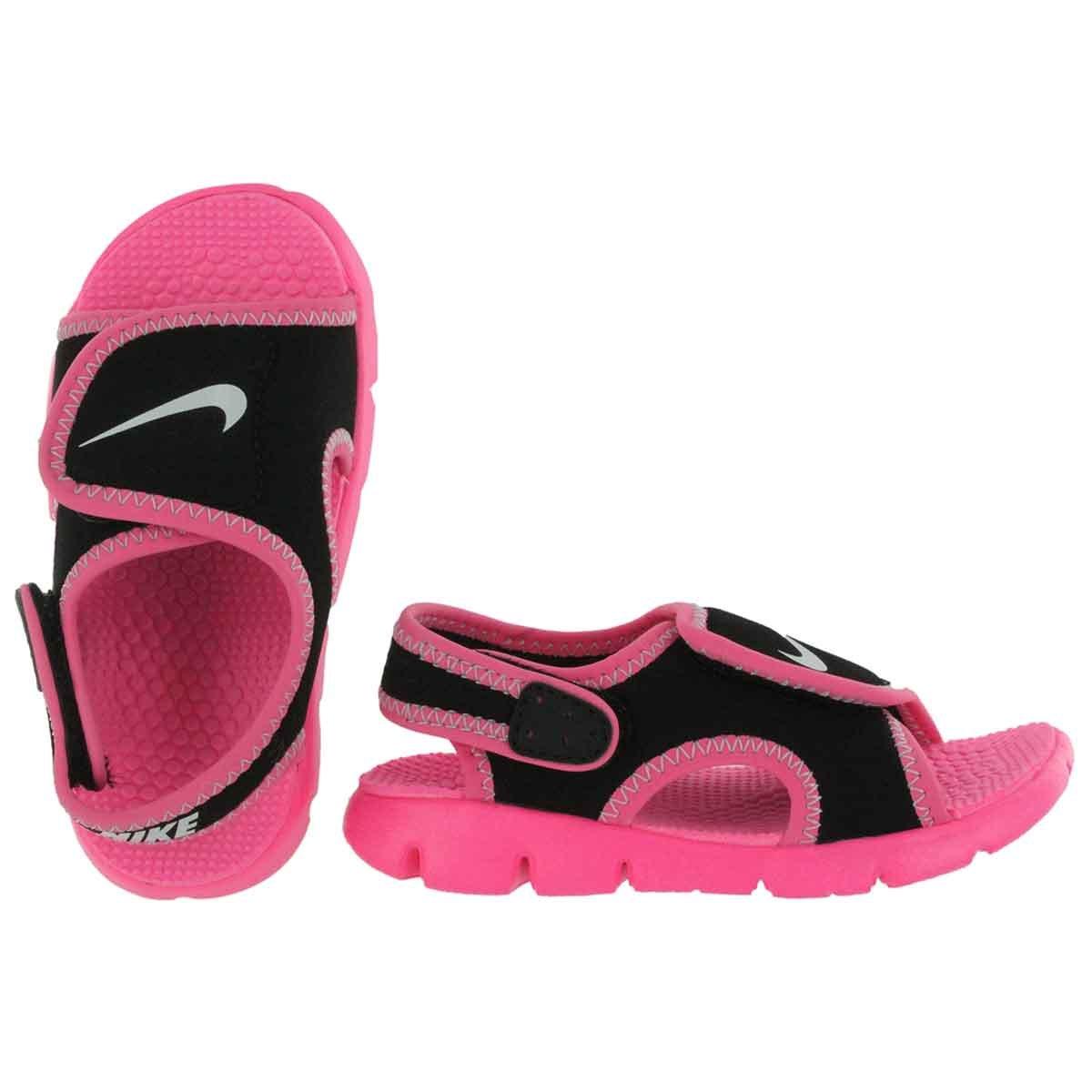 561f23d76d8da Black Pink Nike SUNRAY ADJUST 4 (TD) Open Toe Sandals Shoes Girls Toddlers  Size 12 12c 386521 001