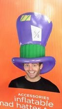 Inflatable Mat Hatter Hat Topper Adult Halloween Costume Accessory One Size