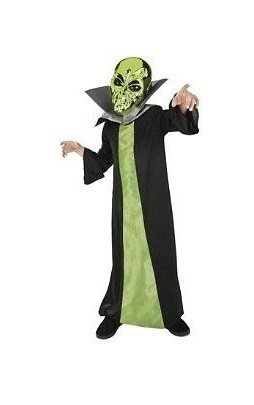 Spaced Out Alien Halloween Costume Child Boys Girls Size Small 4-6