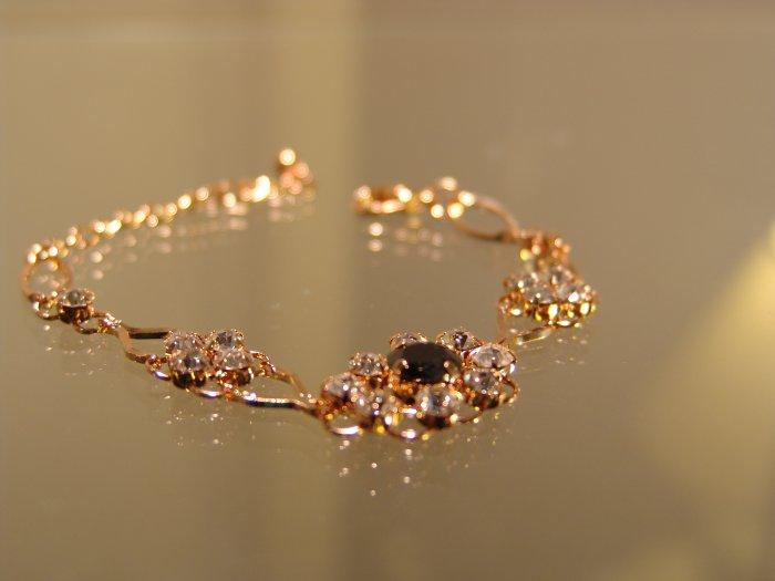 Crystal & Oynx Bracelet