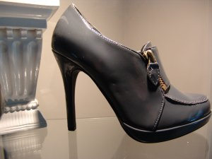 7 -Grey Zipper Ankle Platform Bootie