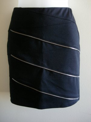 4 - ABS Allen Schwartz Zipper Mini Skirt in Black