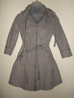 S- Waterproof Anorak Hooded Coat in Grey