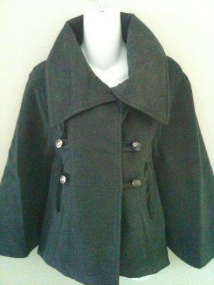 S- Gray Equestrian Style Cape Coat