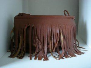 Brown Fringe Cross Body Shoulder Bag