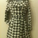 L- Houndstooth Black &White Coat