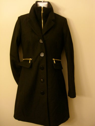 S- Funnel Neck Wool A Line Coat