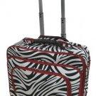 Zebra Print Designer Large Rolling Briefcase w/ Shoulder Strap! (Red)