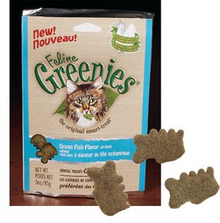Feline Greenies!  Ocean Fish Flavor 3 oz